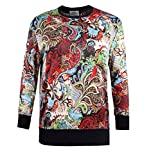 ZERDOCEAN Women's Plus Size Printed Fleece Lining Stretch Pullover T Shirt 03 1X