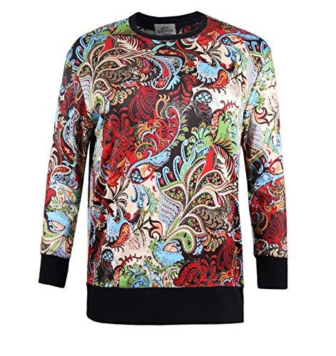 ZERDOCEAN Womens Plus Size Printed Fleece Lining Stretch Pullover T Shirt Sweatshirt