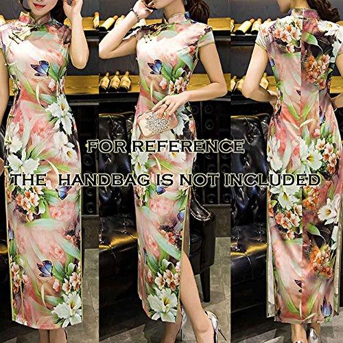 Kleid Blancho Chinesisches Qipao Mandarine Rosa Traditionelles Kleid Kragen Cheongsam zzPqwOxg