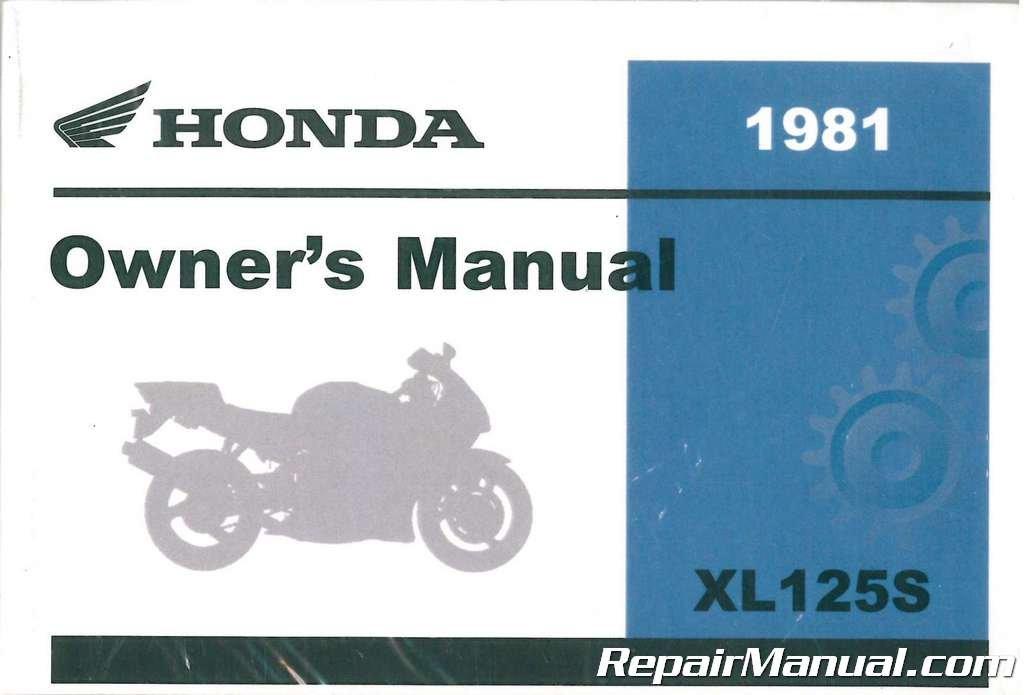 3143702 1981 honda xl125s motorcycle owners manual manufacturer rh amazon com 1981 Honda 125 1977 Honda Xl125