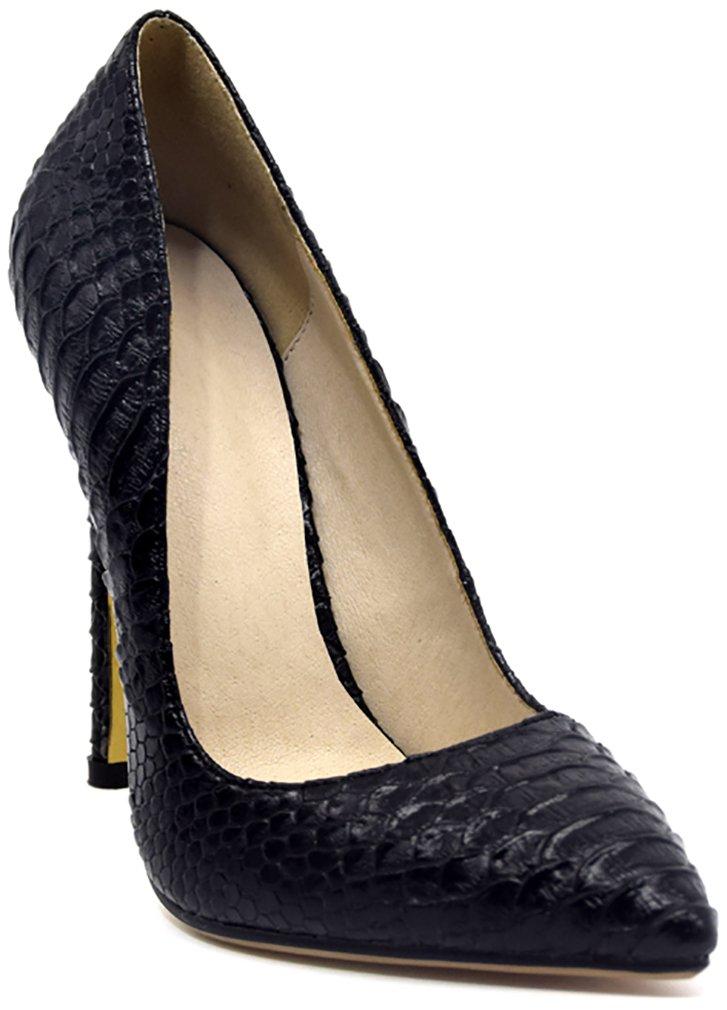 Arraysa Mujer Aaaat12 Tacón De Aguja 12CM Sintético Ponerse Zapatos de tacón 41 EU Negro
