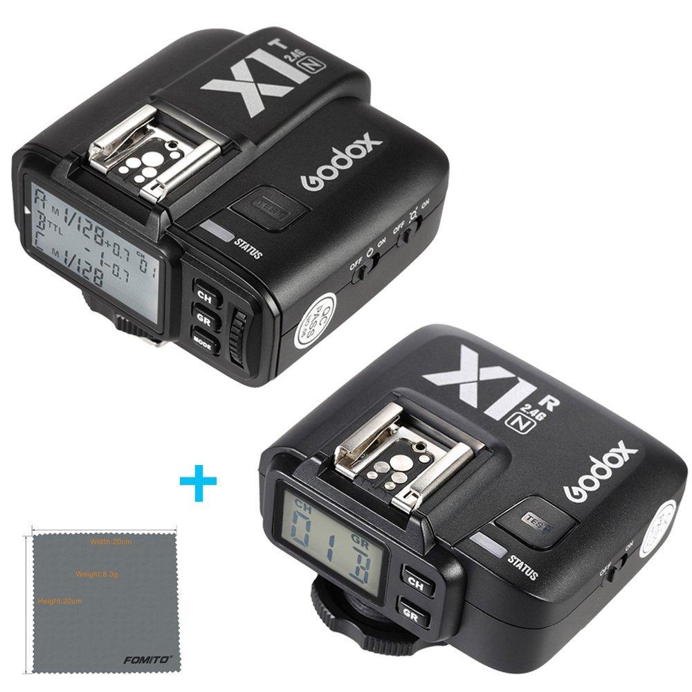 Fomito Godox X1-N TTL 2.4GHz Wireless Radio Flash Trigger X System for Nikon D810 D800E D7200 D5500 D5100 Cameras, SB910 SB900 SB700 Flashes by Fomito