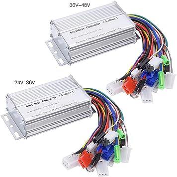 Alomejor Controlador de Motor Eléctrico 36v 350w Controlador de ...
