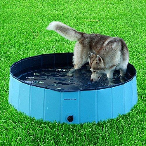 Namsan Foldable Dog Pool Bathing Tub for large dogs, Sky blue by Namsan