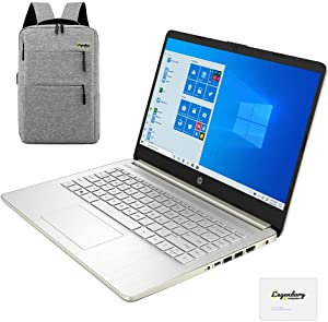 2020 HP 14 inch HD Laptop, Intel Celeron N4020 up to 2.8 GHz, 4GB DDR4, 64GB eMMC Storage, WiFi 5, Webcam, HDMI, Windows 10 S /Legendary Accessories (Google Classroom or Zoom Compatible) (Pale Gold)