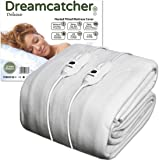 Dreamcatcher Double Electric Blanket Luxury Polyester, Double Bed 190 x 137cm Electric Heated Blanket, Soft Fitted Underblanket Fully Fitted Mattress Cover with 3 Comfort settings, 2 x Controllers and Machine Washable