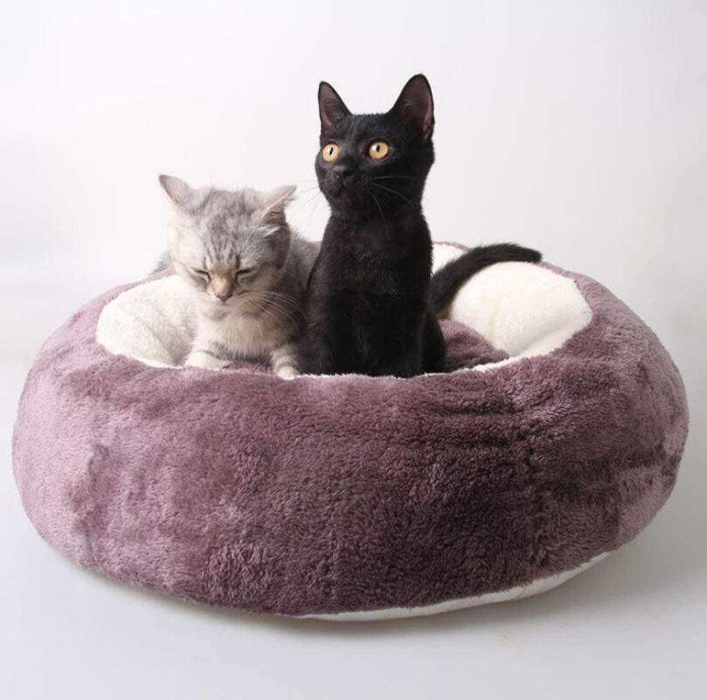 Purple MOO0MDDY Pet supplies cat dog,Cute pet nest round pouch egg pet nest cat house mat tire nest,Yellow