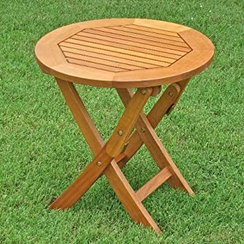 Royal Tahiti Outdoor Furniture 19-Inch Round Folding Table