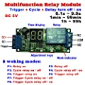 Qianson DC 5V 12V 24V Digital LED Display Infinite Cycle Delay Timer Switch ON/OFF Relay Module