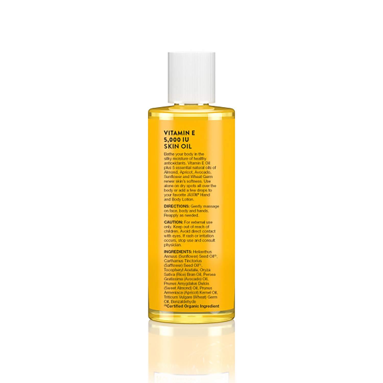 JASON Vitamin E 5,000 IU All Over Body Nourishment Oil, 4 Fl Oz (Packaging May Vary): Beauty
