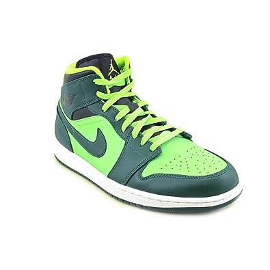 Nike Air Jordan 1 Mid grün (554724 330) Gr. 46: