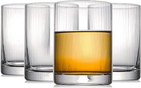 Kingrol 4 Pack 8 Oz Drinking Glasses Crystal Short Glass Tumblers Glassware Set For Beverages Juice Cocktails Mixed Drinkware Sets