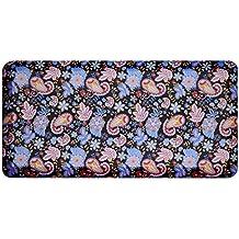 Urvigor Anti Fatigue Mats Comfort Kitchen Floor Mats Standing Mat ,Antique Light Flower Pattern (20x39x3/4-Inch, Blue)