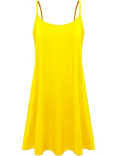 cf6052f620389 7th Element Plus Size Women s Casual Spaghetti Loose Swing Slip Dress