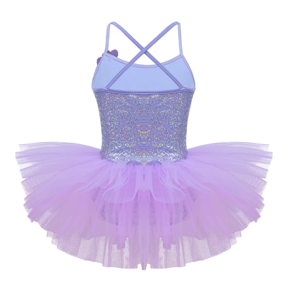 bbf2c9171 iEFiEL Kids Girls  Sequins Ballet Tutu Dress Gymnastic Leotard ...