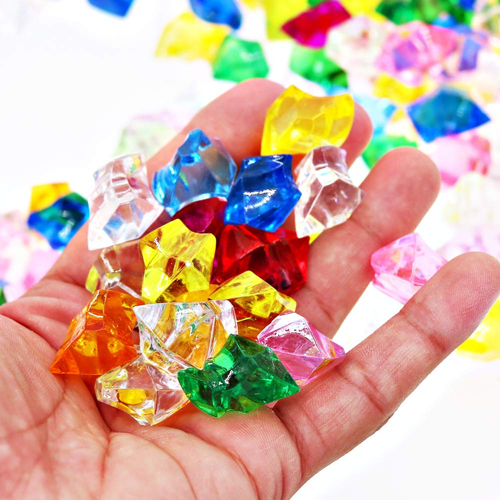 SumDirect 25x18mm Multicolor Pirate Gems Acrylic Ice Rock for Vase Filler,Fish Tank,Table Scatter,Party and Wedding Decor-Approx. 200Pcs (25x18mm, Multicolor) by SumDirect (Image #4)