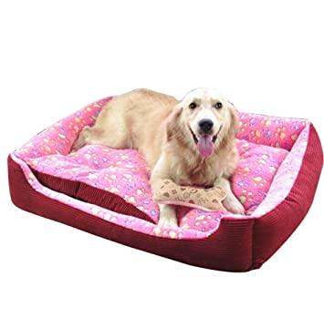 Cama para mascotas - Acogedora y confortable cama para mascotas, cojín desenfundable en suave algodón para perros, gatos, conejos.: Amazon.es: Hogar