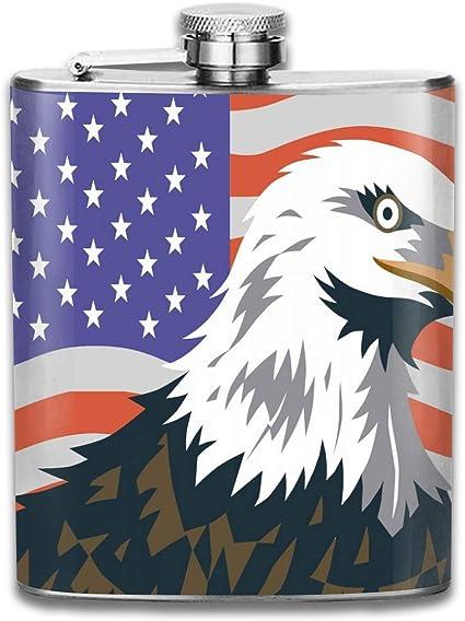 Petaca pequeña de acero inoxidable con diseño de águila con ...