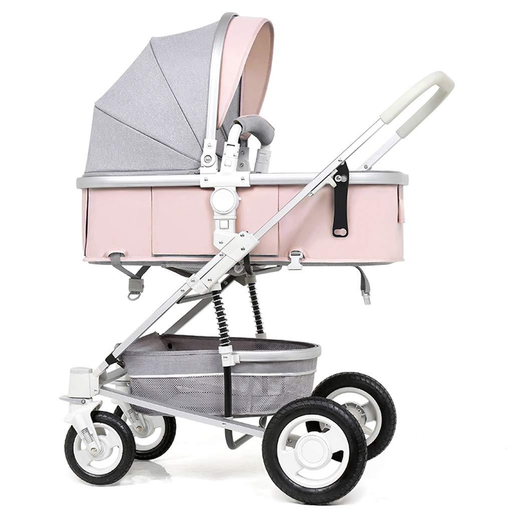 FXZ Cochecitos para niños pequeños Asiento Alto Paisaje y Carro de Dos vías de Mentira Cochecitos Plegables Plegables de absorción de Choque para bebés ...