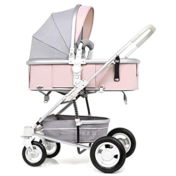 Amazon.com : Strollers for Toddlers High Landscape Seat and Lying Two-Way Cart Shock Absorbing Foldable Lightweight Strollers for Babies (Color : D) : Baby