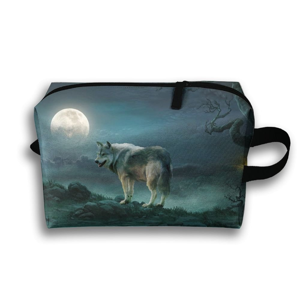 hot sale Michgton Cosmetic Bag Fantasy Wolf Moon Women  Fashion 3D Printing Travel  Multifunction Makeup 389ec56c1c