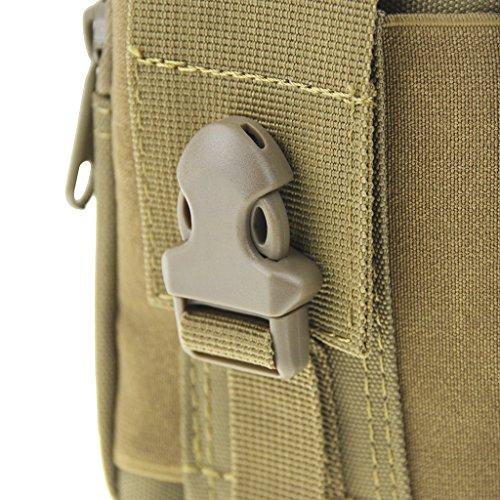 Outdoor Groß Kapazität Taktische Tasche Handy Halfter Bauchtasche Gürteltasche Nylontasche Waist Bag Geldbeutel für Outdoor Reisen Sport