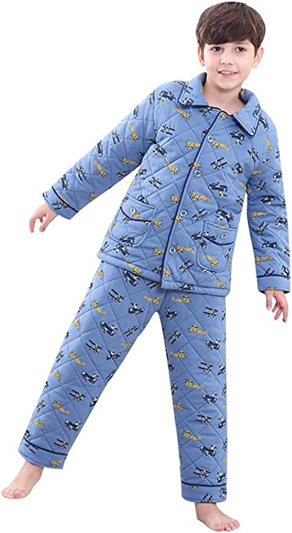 Pijamas dos piezas Pijama Sección de Engrosamiento de algodón ...