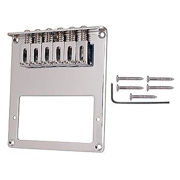 Gazechimp 6 Cuerdas de Guitarra Eléctrica de Puente de Silla de Fender Telecaster Accesorio para Instrumento Musical - Plata: Amazon.es: Instrumentos ...