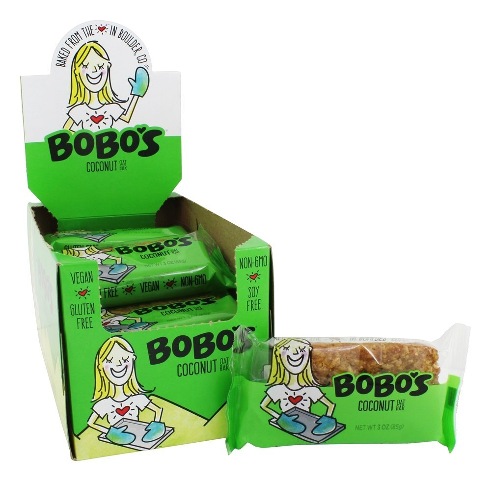 Bobo's Oat Bars - All Natural Bars Box Coconut - 12 Bars