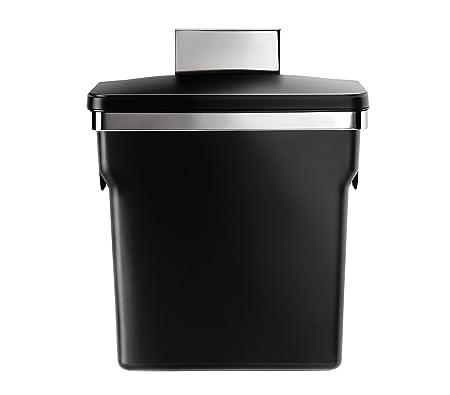 Amazon.com: simplehuman, cesto de residuos para gabinete ...
