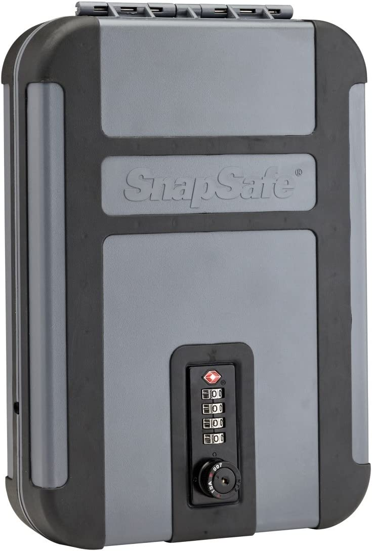 """Snapsafe Treklite Lock Box with Combination Lock, X-Large 75241, Portable Polycarbonate Handgun Safe & Case, TSA Lock Approved, Measures 10"""" x 7"""" x 2"""" : Sports & Outdoors"""