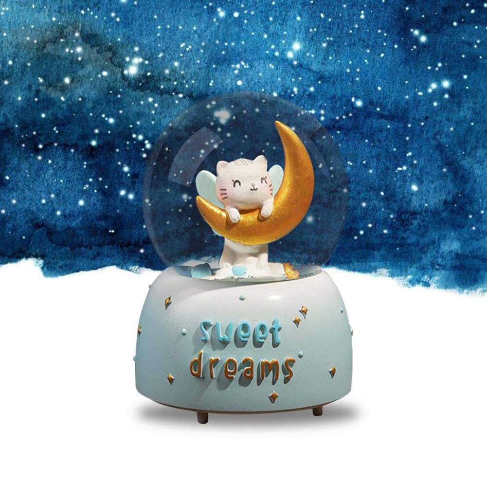Girls with Dog Musical Water Globe Birthday Gift for Kids,Girls,Friends or Women