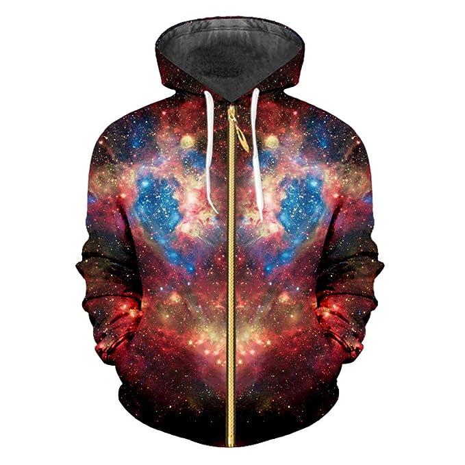 Bridfa Sudaderas Capucha y Cremallera Otoño Invierno Hip Hop Streetwear Chaquetas Mujeres/Hombres 3D Print Galaxy Space Hooodies Sudadera: Amazon.es: Ropa y ...