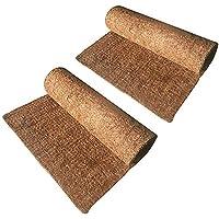 Hamiledyi 2Pcs Reptile Carpet Natural Coconut Fiber Carpet Mat for Pet Terrarium Liner Reptile Supplies for Lizard Snake…