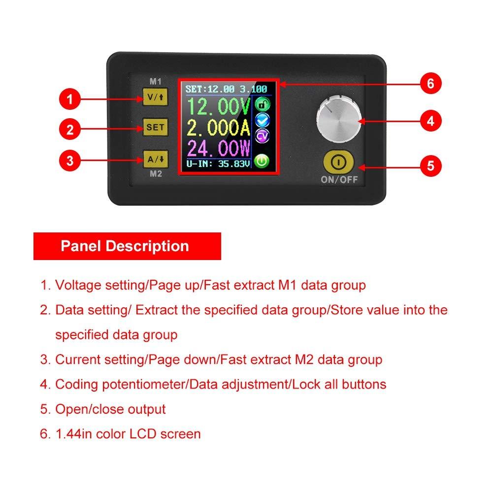 DC 6-55V a 0-50.00V M/ódulo de fuente de alimentaci/ón reductora programable ajustable digitalmente LCD Convertidor Buck de voltaje constante LCD Boost Buck Converter DPS3005