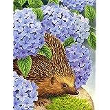 Hedgehog & Hydrangea Flag Garden Size ASA2001GF