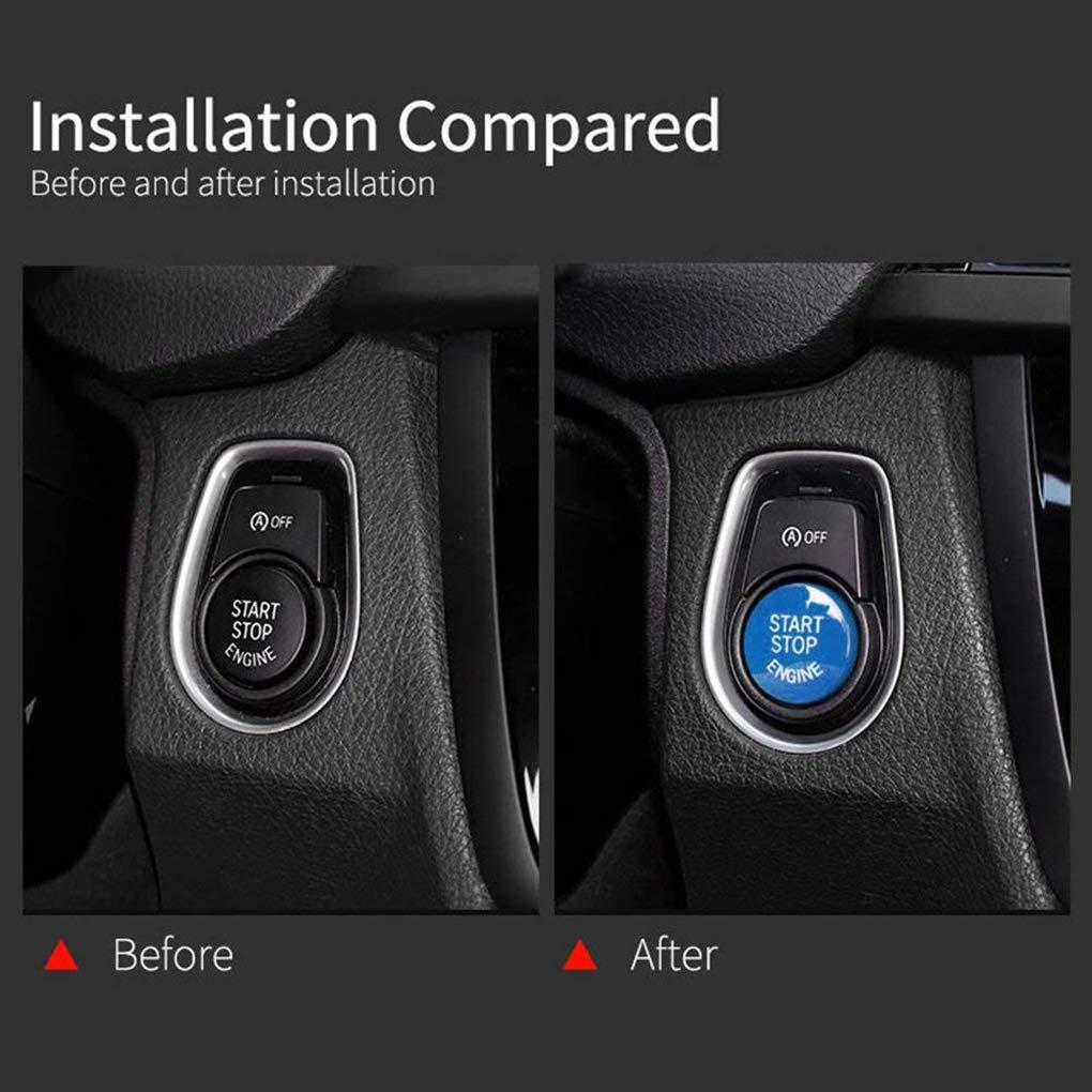 Morza Haute qualit/é ABS Voiture de d/émarrage du Moteur Interrupteur darr/êt Bouton Remettre Le Couvercle pour BMW E60 E70 E71 E90 E92