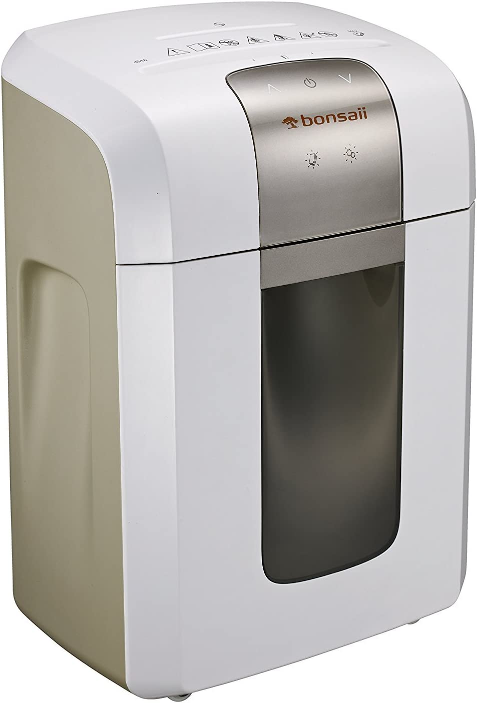 Bonsaii EverShred Pro 4S16 6-Sheet Micro-Cut Paper/CD/Credit Card Shredder,60 Mintues Continuous Running with 4 Easy Move Casters,High Security P-5,White