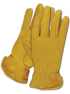 Elastic Wrist 012B Northstar Womens Black Full Grain Deerskin Gloves Unlined