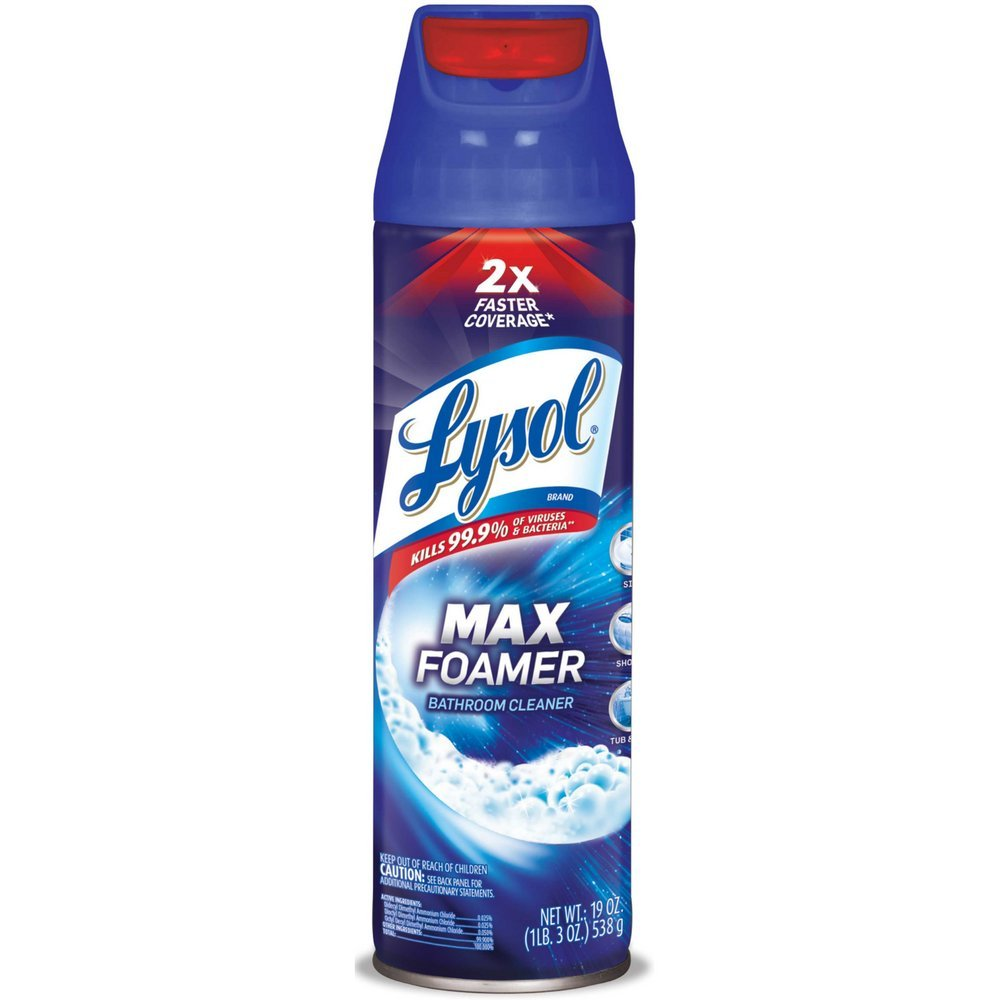Lysol Max Foamer Bathroom Cleaner 2X Faster Coverage 19 oz