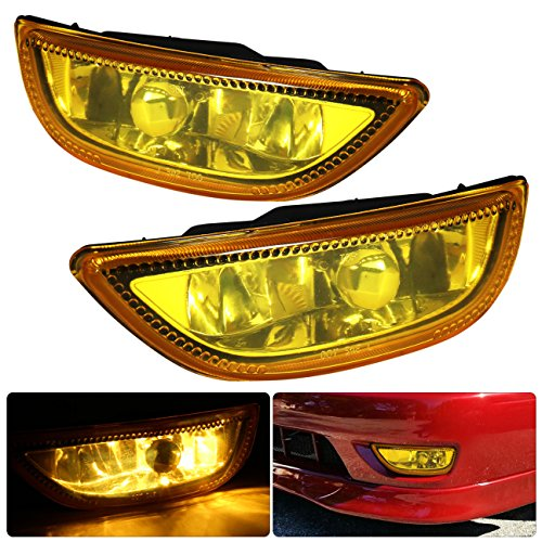 Driving Lights Complete Kit (Corolla Toyota Jdm Vip Yellow Amber Fog Light Lamp Lens Assembly Complete Kit Driving Front Bumper Conversion Harness Switch Lh Rh Pair Set)