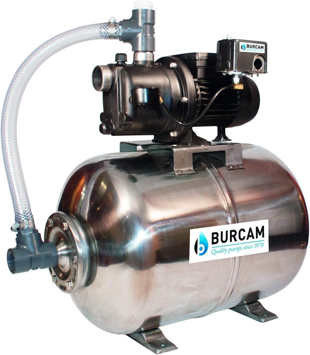 BURCAM 506228PSS 3//4 HP Noryl Shallow Well Jet Pump System Black