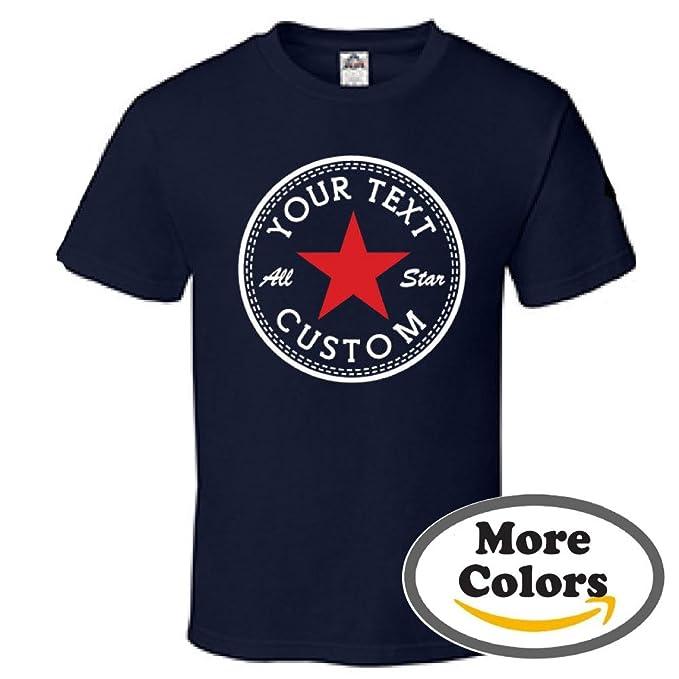 6b7f9b1f7cdd Custom Converse All Star Inverse Old Star School Shoes Kicks T-Shirt Tee  (Medium