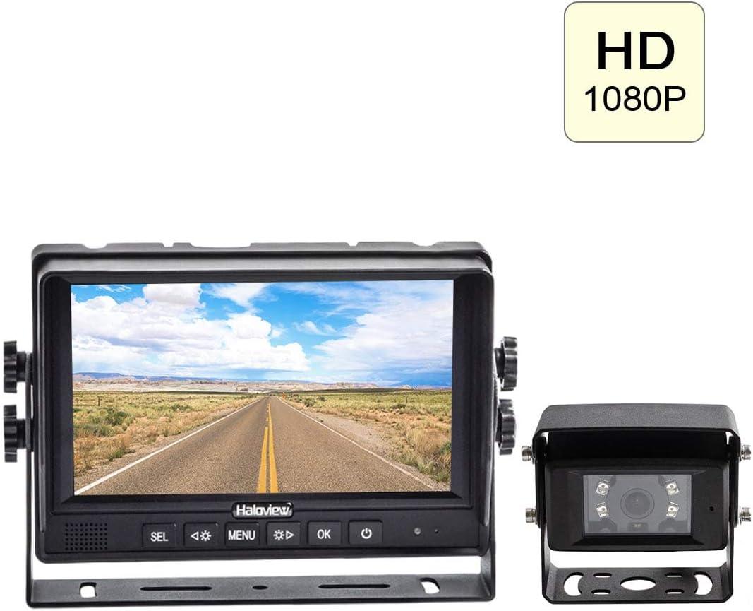 Haloview MC7611 1080P High Definition 7 Digital Wired Backup Camera System for Truck Trailer Bus RV Pickups Camper Van Farm Mach MC7611