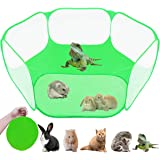 GABraden Small Animals Tent,Reptiles Cage,Breathable Transparent Pet Playpen Pop Open Outdoor/Indoor Exercise Fence…