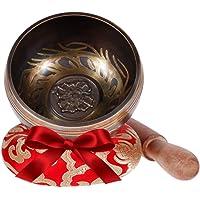 Rovtop Cuenco Tibetano a Mano para la Meditación Chakra Healing, Oración, Yoga, Budismo y Sanación a través de la…