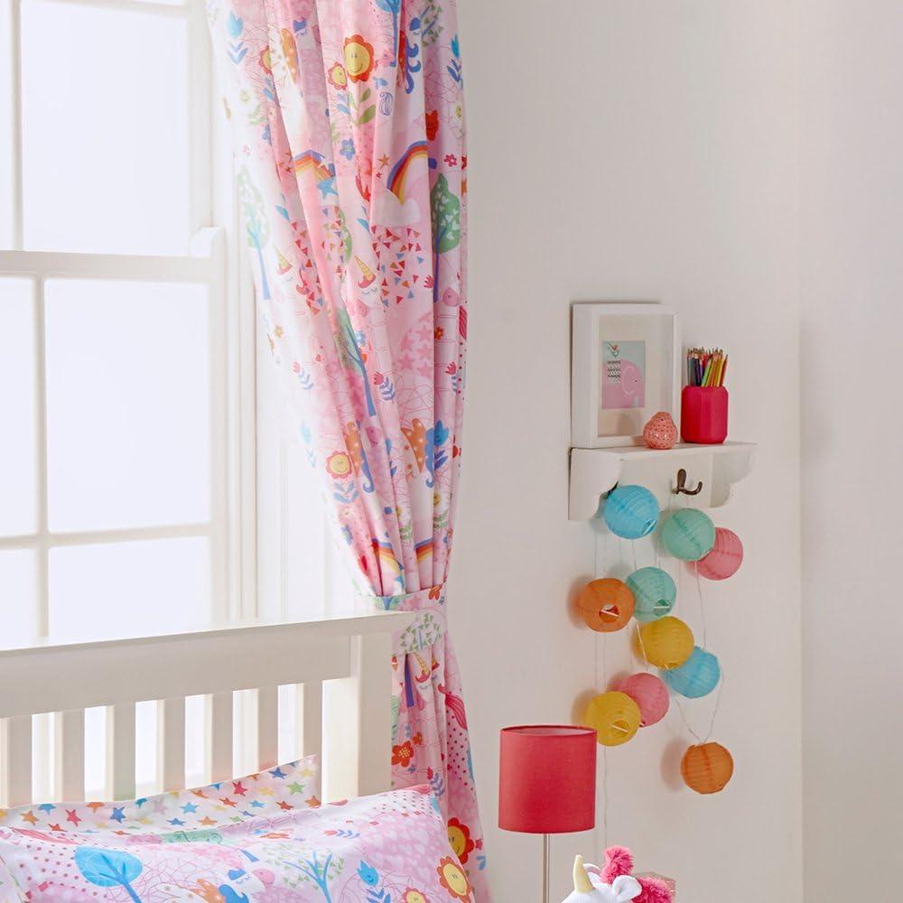 Curtains Wall Art In pInk Pair Curtains 66 x 72 Unicorn Design Toddler Duvet Set Single Bed Duvet Set