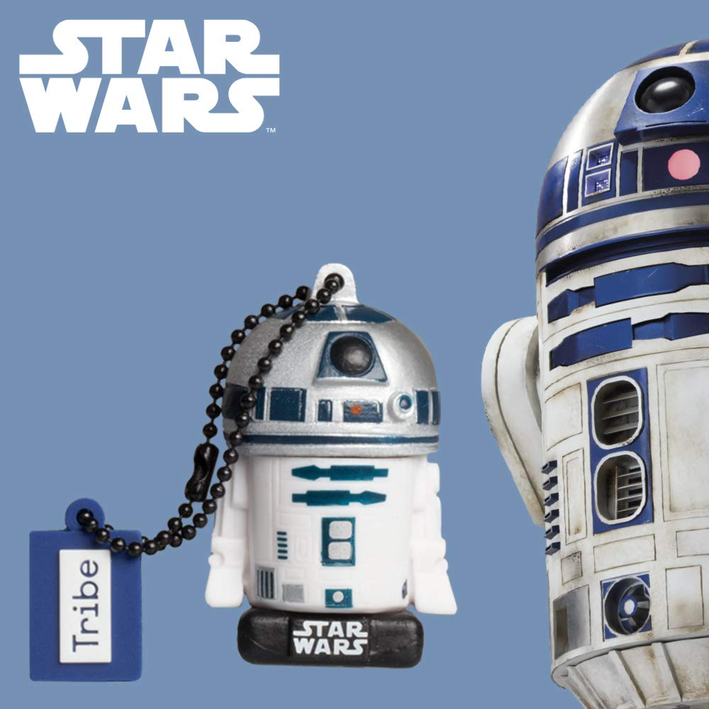 Tribe, Star Wars R2D2, 32GB USB Flash Drive, 2.0 Memory Stick Keychain