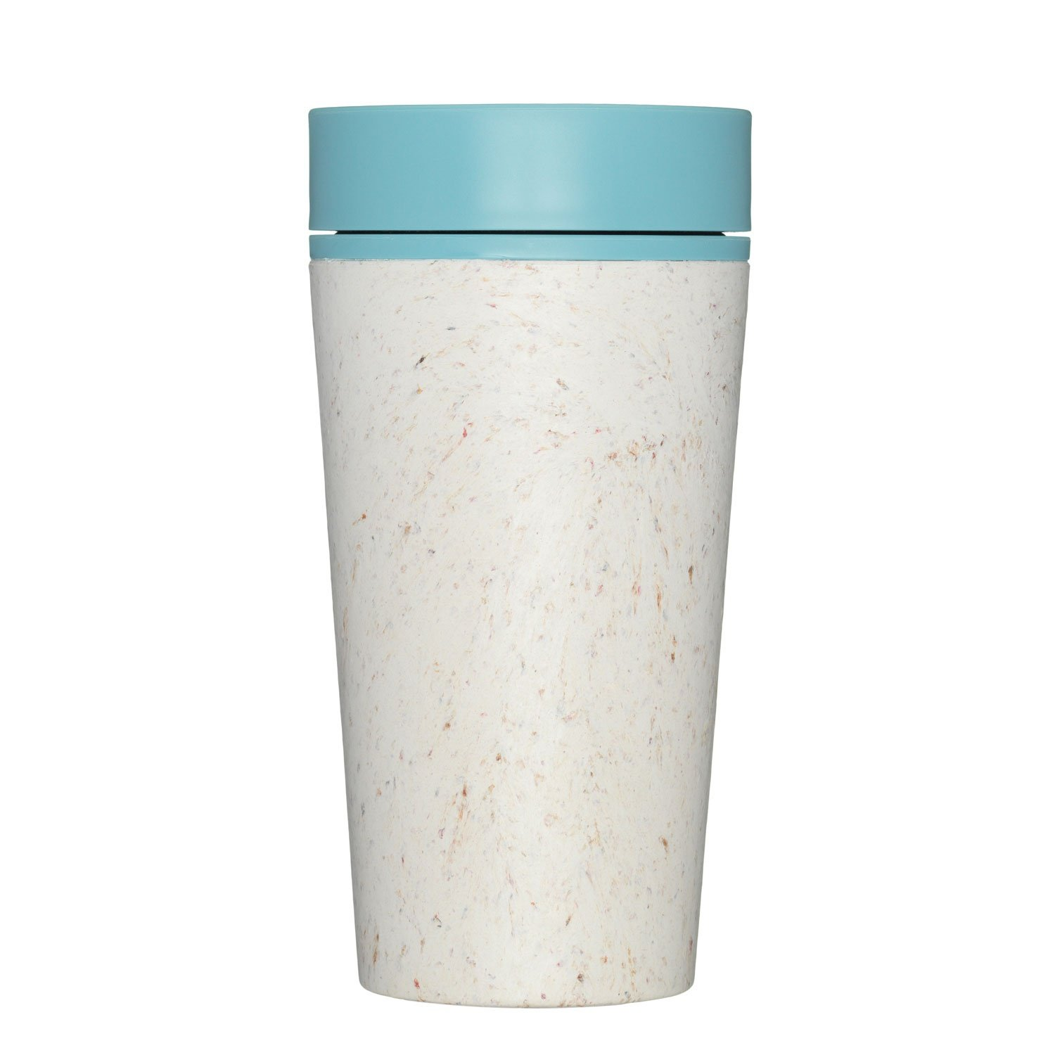 rCUP Worlds First Reusable Travel Cup Made from Recycled Single-Use Cups Cream - Earth Green 12oz // 340ml