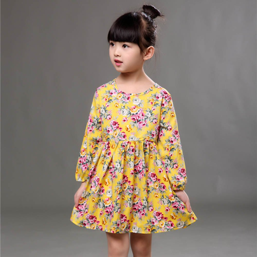 Toddler Baby Girls Dress Long Sleeve Princess Party Pageant Dresses Kids Clothes sunnymi  Baby Girls Dress